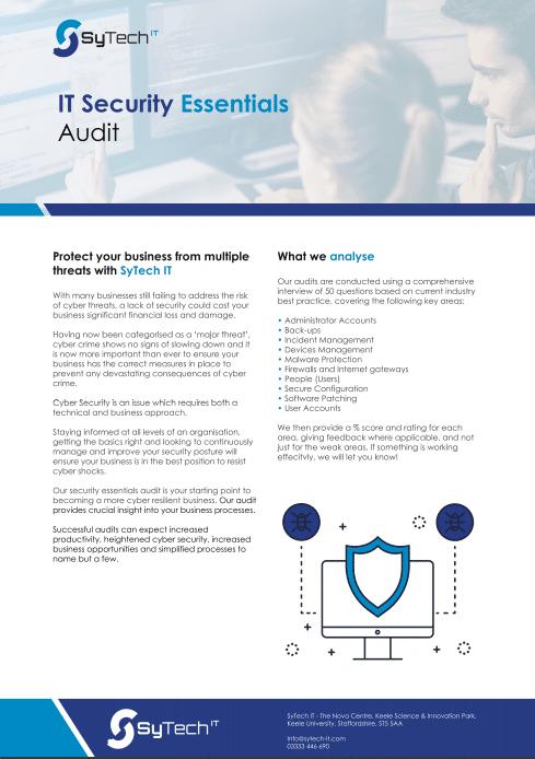 Cyber Security Audit - SyTech IT
